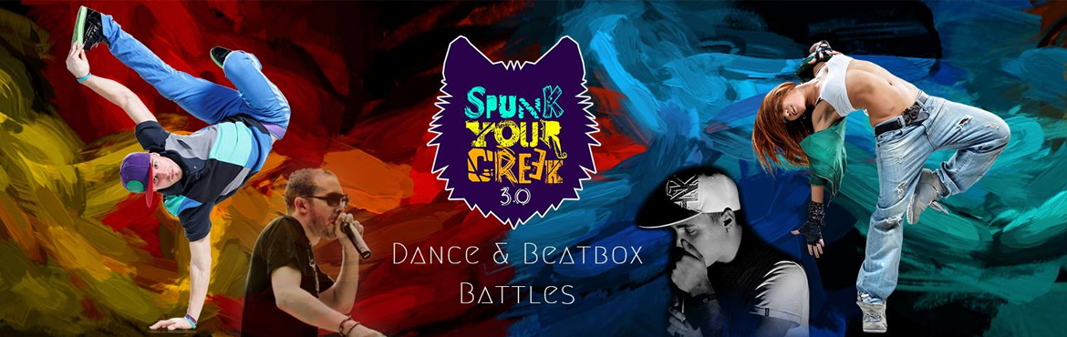 Book Online Tickets for Spunk Your Creek - 3 Days of Insane Danc, Bengaluru. Spunk Your Creek is back with its 3rd edition of the most Insane Battles of the Year. Dance and Beat-Box \'Battles\' have gained immense popularity ever since Hip-Hop Culture has seen tremendous growth among the youth of our country and are hosted al