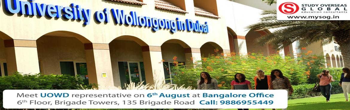 Study in Dubai- University of Wollongong Dubai (UOWD) visiting Bangalore