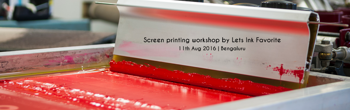 Screen printing workshop by Lets Ink  Favorite
