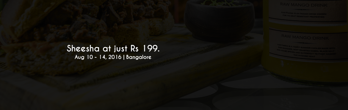 Book Online Tickets for Sheesha at just Rs 199., Bengaluru. Sheesha at just Rs.199/-   Catch-Up-Ino is giving away Sheesha at just Rs.199/- from 10th of August to 10th of September. Foodies have something to cheer too! We have a lot of new introductions - Pita pockets, Fried Oreos, Pizzas, Sizzling brown