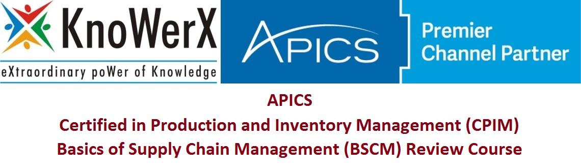 APICS CPIM BSCM Review Course, Pune 25-27 Aug 2016