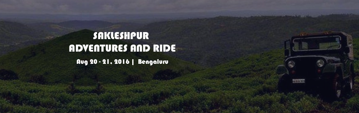 Book Online Tickets for Sakleshpur Adventures and ride to Green , Bengaluru. SAKLESHPUR ADVENTURES AND RIDE TO GREEN VALLEY!  Once more we are off to a beautiful place! This time it will be Sakleshpur Green Valley in the middle of Monsoon !Sakleshpur is listed in the world as one of the 18 most diverse spots that