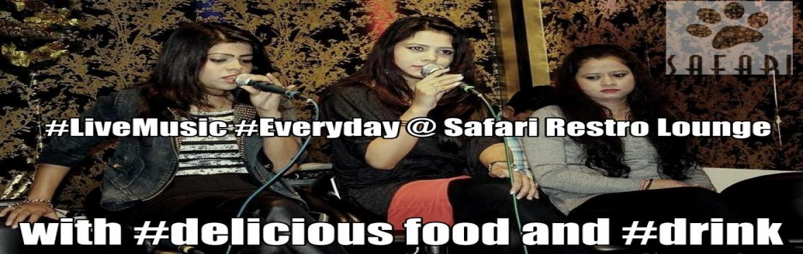 Book Online Tickets for Live Music Everyday @ SAFARI Restro Loun, NewDelhi. ​ Get ready for the battle of linguistics on a #Wonderful Live Music!!! Pump-in your best numbers @ Bollywood, Sufi bands, rock fusion, jazz, electro, hip-hop, techno, and so much more. Bring your friends, family and voices to their mind-boggling L