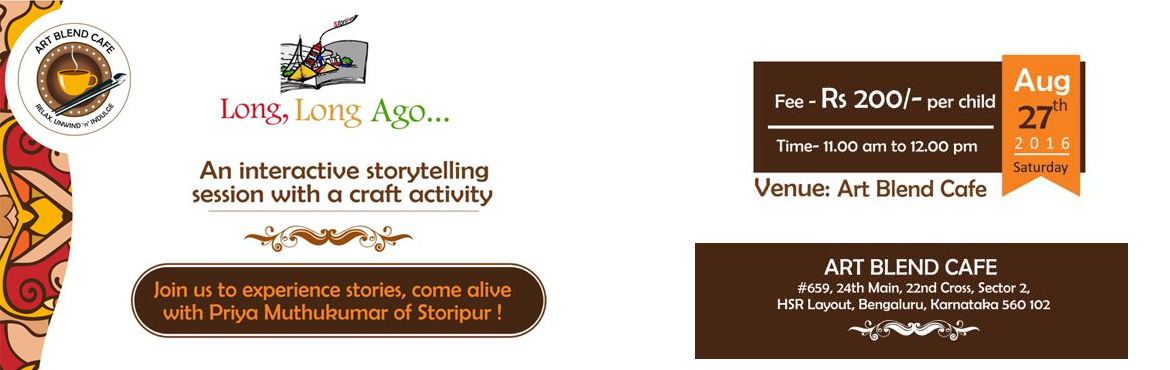 Book Online Tickets for Story Telling Session, Bengaluru.