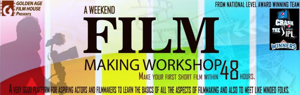 Book Online Tickets for Golden Age Film House : A Weekend Film M, Bengaluru. Deion Make your first short film within 48 hours.  Aspects covered : Basics of Screenplay writing|Story boarding|Casting|Acting|Direction|Cinematography|Editing|Dubbing|MusicAlong with the theory session about various aspects of fil