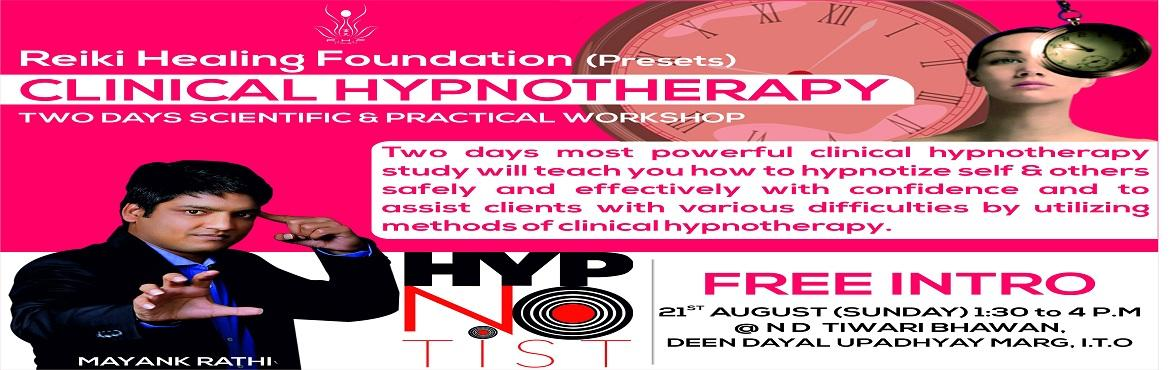 CLINICAL HYPNOTHERAPY: free intro seminar