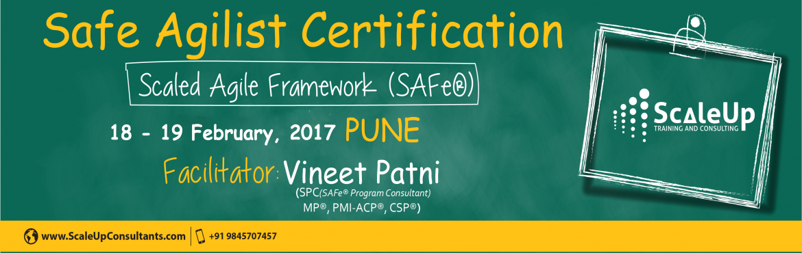 Learn from and get certified by practicing Agile and Scrum experts.  SAFe (Scaled Agile) Certification | BY: ScaleUp Consultants