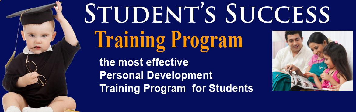 Book Online Tickets for Students Success Training Program, Hyderabad. Student's Success Training Program:the most effective Personal Development training Program for Students Every student wants to become someone successful but how manybecome what they wanted to become? Everything is a consequence of&