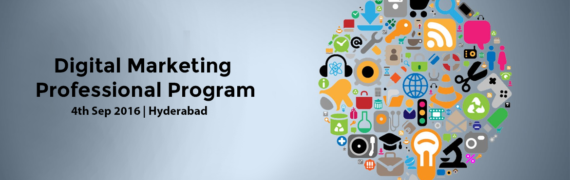 Book Online Tickets for Digital Marketing Professional Program i, Hyderabad. Manipal ProLearn is conducting Digital Marketing Professional Program to educate students in the areas of Digital Marketing.3-month course spanning 80 hours of learning engagement (40 hrs classroom training, 20 hrs e-learning & 20 hrs projec
