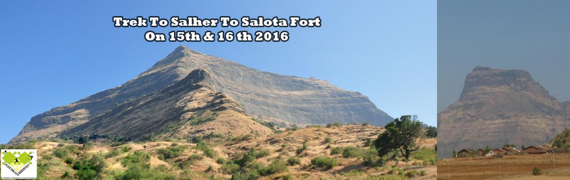 Book Online Tickets for Trek To Salher and Salota Fort, Nashik. Salher is a place located near Waghamba village in Nasik district of Maharashtra, India. According to a legend, Lord Parshuram did his Tapascharya (asceticism) at Salher Fort. Salher stands adjacent to Salota Fort in Selbari Mountain Range in Baglan