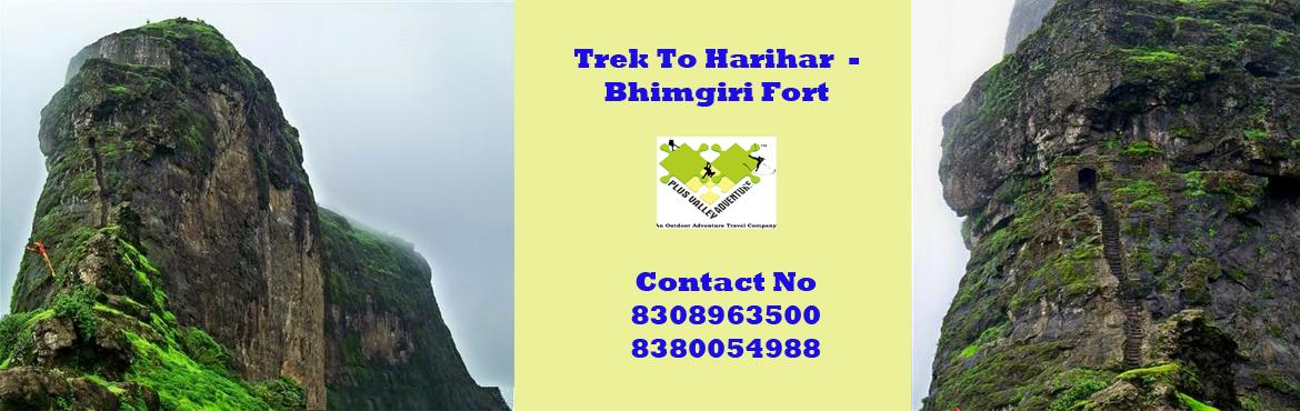 Book Online Tickets for Trek To Harihar-Bramhagiri Fort, Nashik. About Harihar fort Height: 3676 ftRegion: IgatpuriHarihar fort appears to be rectangular in shape from its base village. It is built on a triangular prism of rock. Its three faces and two edges are absolutely vertical (90 degrees). The third edg