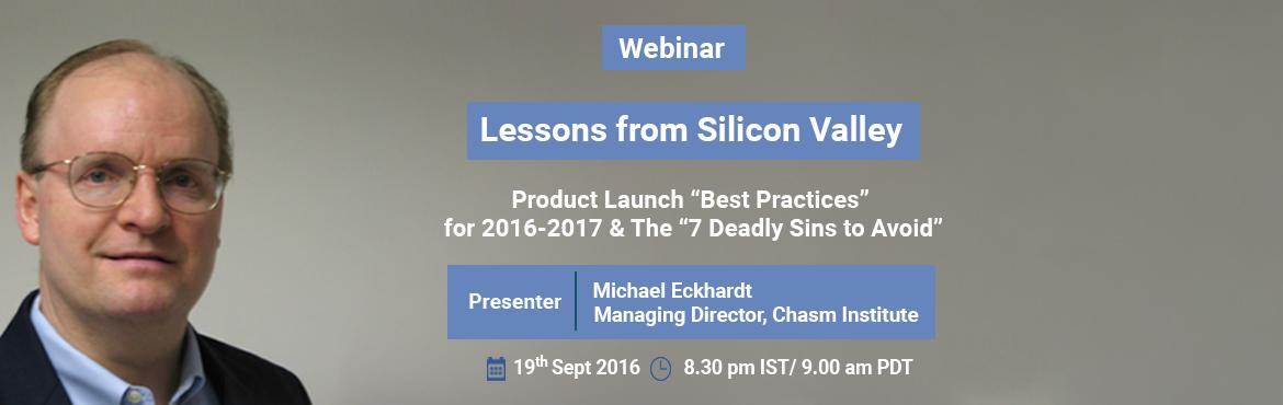 "Book Online Tickets for Webinar - Product Launch Best Practices , Bengaluru. Institute of Product leadership take great pleasure in inviting you to the monthly series of Product Professionals networking event. Our theme for this event will be about Product Launch ""Best Practices"" for 2016-2017 & the 7 Deadly S"