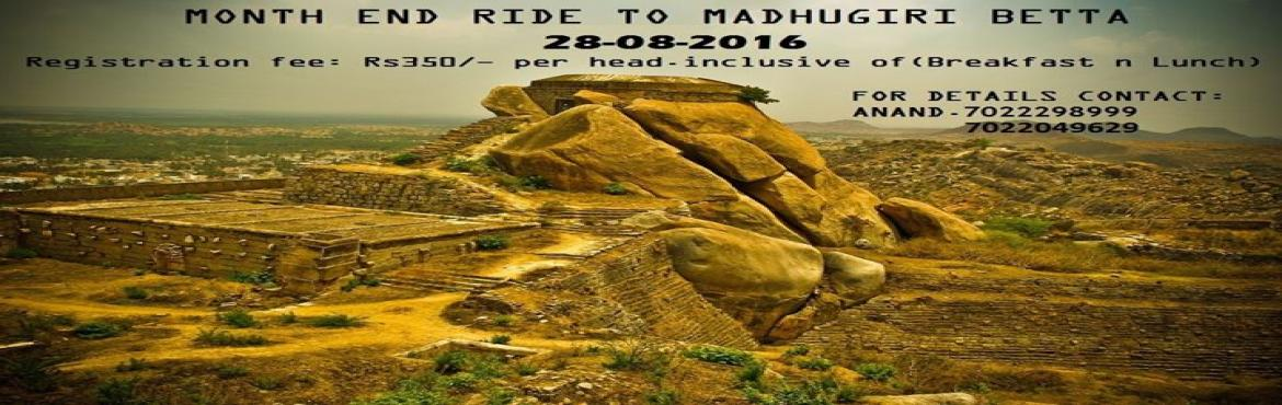 Month end ride to madhugiri betta