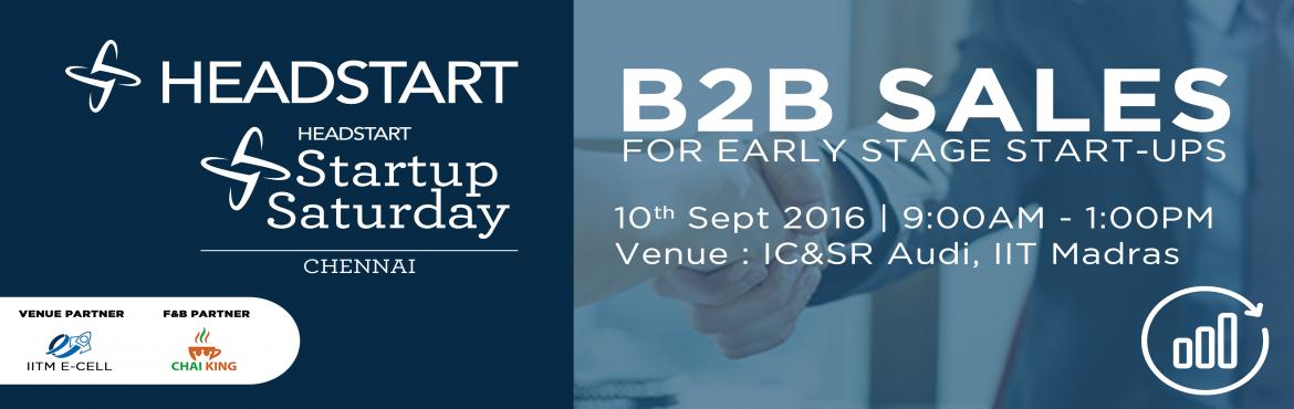 Startup Saturday Chennai - September 2016