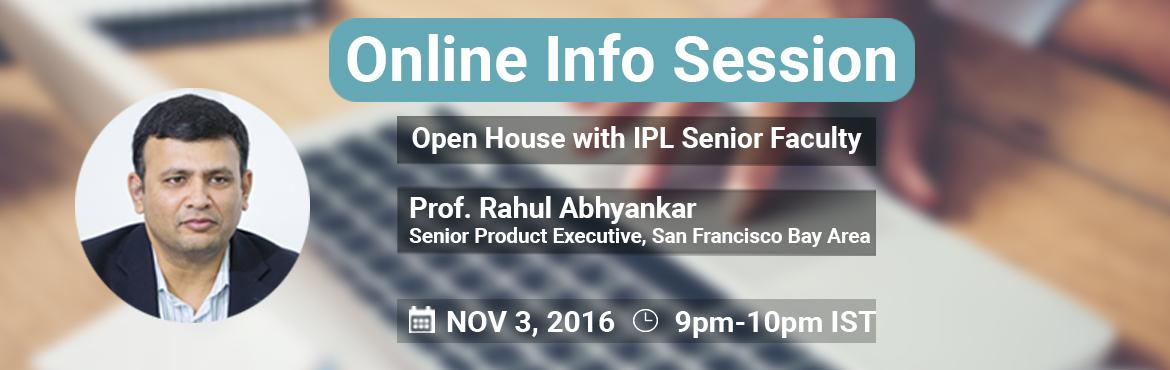 Online Info Session : Open House with IPL Senior Faculty