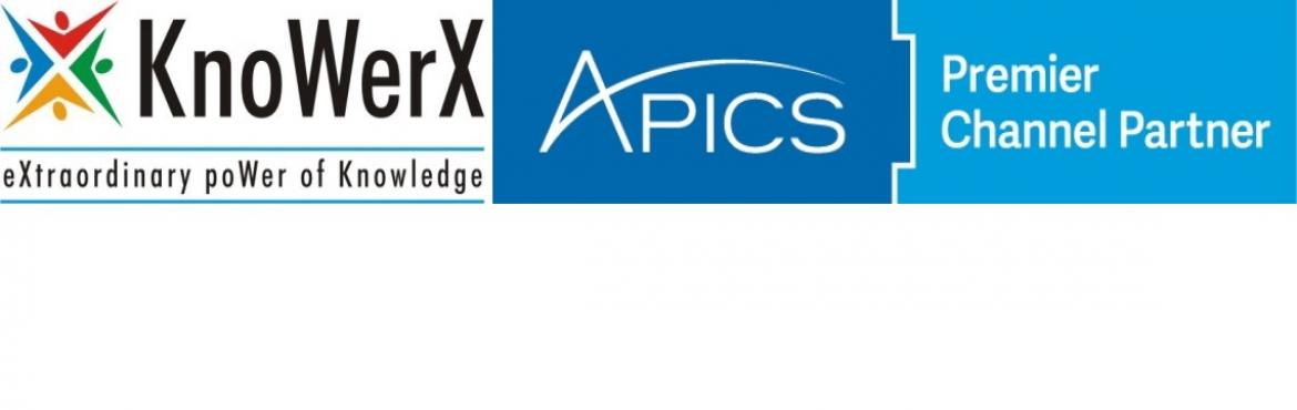 APICS CSCP Review Course, 13-17 September 2016, Chennai