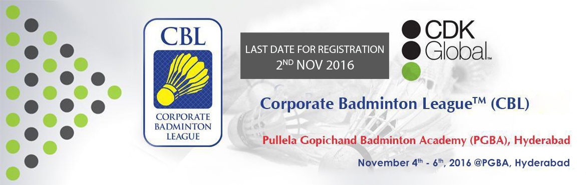 Corporate Badminton League 2016