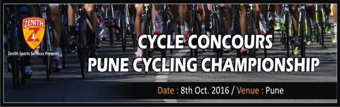 Book Online Tickets for CYCLE CONCOURS - PUNE CYCLING CHAMPIONSH, Pune. Cycle Concours PUNE CYCLING CHAMPIONSHIP 2016   Organized by  Zenith Sports Services, Pune   Date: 8th October 2016   Venue: Pune   Route: Start DP road,Mhatre Bridge – Sinhagad Road – DonjePhata – Panshet &