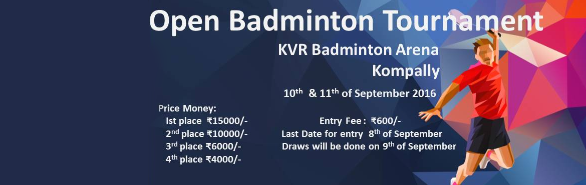 KVR OPEN BADMINTON TOURNMENT