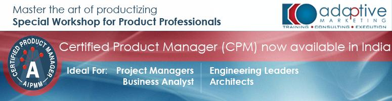 Advanced Product Management Certification Workshop in Bangalore