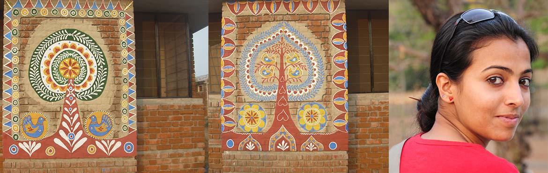 Mural Magic  A MURAL MAKING WORKSHOP BY TRIBENI DEVI FROM SANTINIKETAN
