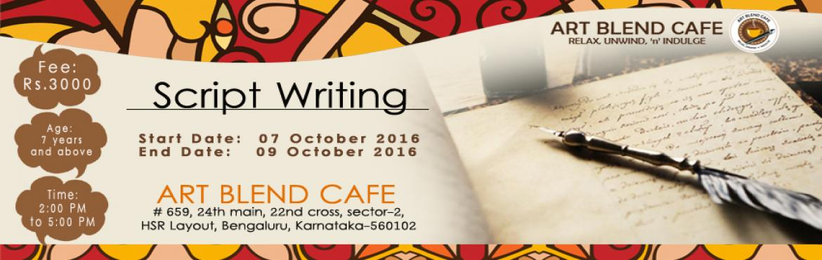 Book Online Tickets for Theme Based Script Writing, Bengaluru. This is a daily workshop for 3 hours each between 2-5 pm.Suited for kids of for age 7yrs and aboveLearn how to write skits / a short play.Student written skits will be published on social media.