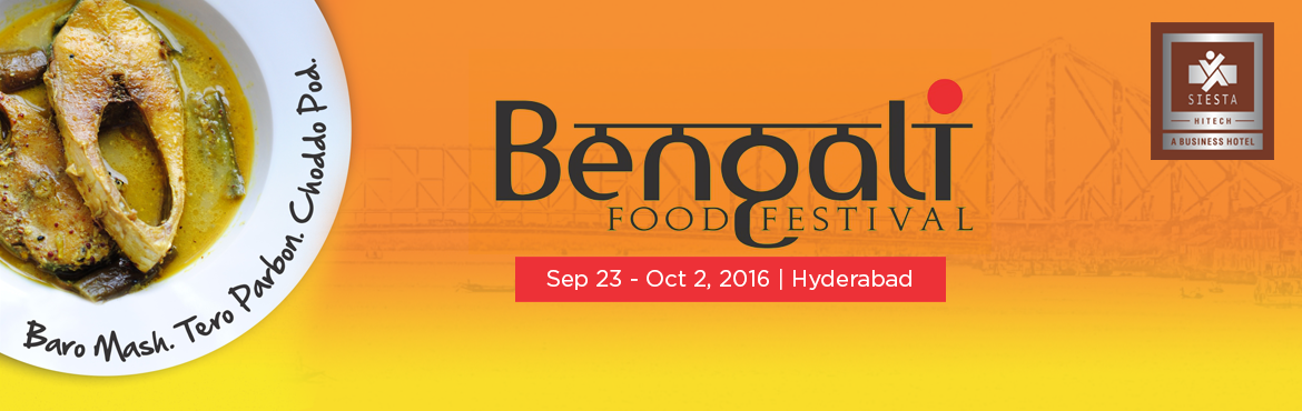Book Online Tickets for Bengali Food Festival  at Qube Cafe, Hyderabad. Baro Mash, Tero Parbon, Choddo Pod\
