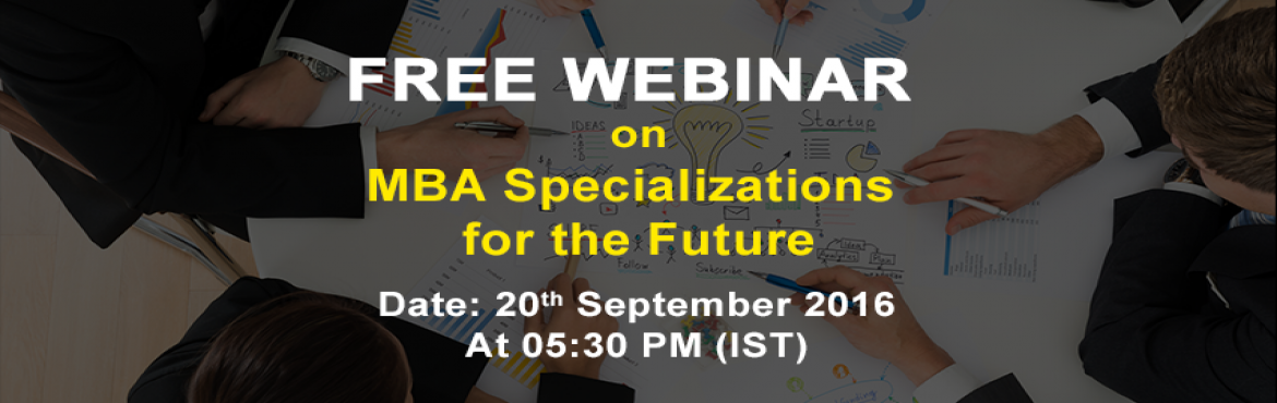Book Online Tickets for Webinar on MBA Specializations for the F, Gurugram. Tagmycollege invites you to a webinar to discuss, with you, the various areas that you can specialize in under your management program.  Tagmycollege.com is a first of its kind portal that brings you details of colleges, courses offered, degrees