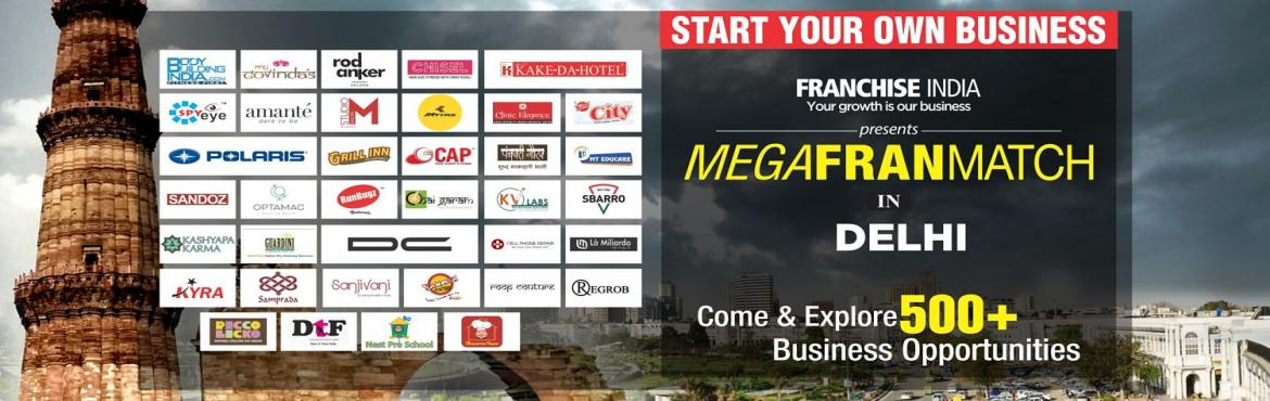 Book Online Tickets for Mega FranMatch Delhi , NewDelhi. One of its kind concepts from Franchise India, MegaFranMatch (MFM) brings together the prospective franchisees and the franchisor on a single platform, based on their business requirements, location, investments, and most importantly, share the same