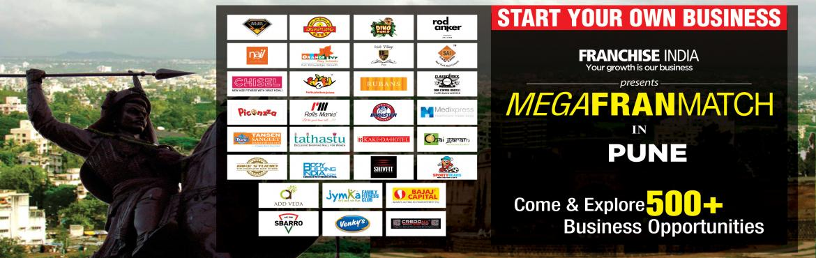 Book Online Tickets for Mega FranMatch Pune, Pune. One of its kind concepts from Franchise India, MegaFranMatch (MFM) brings together the prospective franchisees and the franchisor on a single platform, based on their business requirements, location, investments, and most importantly, share the same