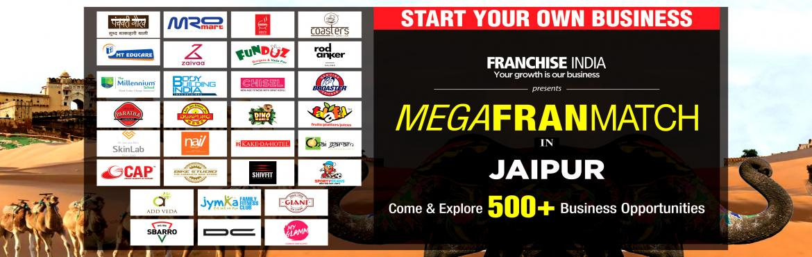 Book Online Tickets for Mega FranMatch Jaipur, Jaipur. One of its kind concepts from Franchise India, MegaFranMatch (MFM) brings together the prospective franchisees and the franchisor on a single platform, based on their business requirements, location, investments, and most importantly, share the same