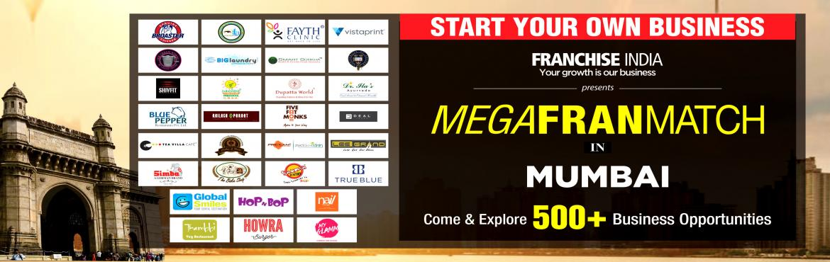 Book Online Tickets for Mega FranMatch Mumbai , Mumbai. One of its kind concepts from Franchise India, MegaFranMatch (MFM) brings together the prospective franchisees and the franchisor on a single platform, based on their business requirements, location, investments, and most importantly, share the same