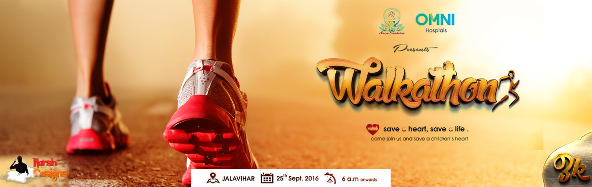Book Online Tickets for Save A Heart Walkathon, Hyderabad. Aasya Health Foundation Presents   3K Walk (A fundraising walkathon) Aasya Foundation is committed to saving children's lives by improving the quality and accessibility of cardiac care.We work hard to protect heart health and fight fo