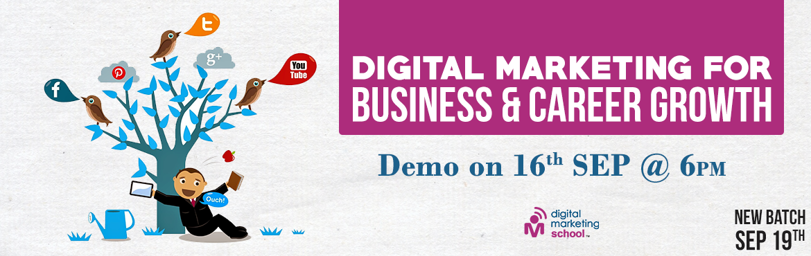 Book Online Tickets for Digital Marketing Demo , Hyderabad. Demo on Digital Marketing   \