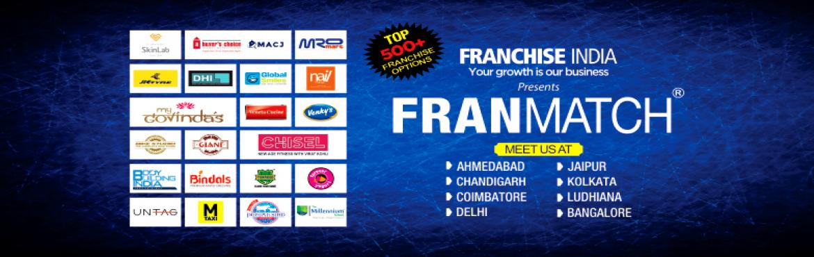 Book Online Tickets for Partner with Punjab Sindh @ Franmatch, Bengaluru. FranMatch is an event organized by Franchise India Brands Limited. It provides an excellent platform for matching prospective franchisees with franchisors that fit the business requirements, location, investments and area details and most importantly