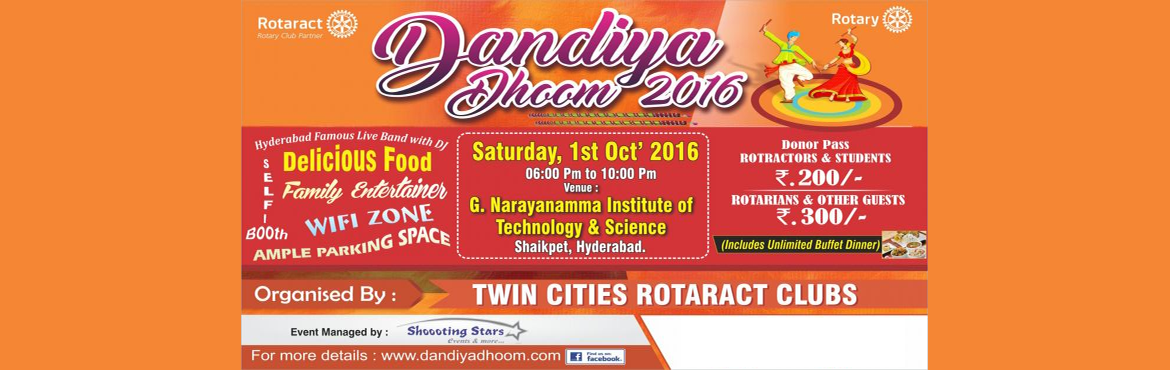 Book Online Tickets for Dandiya Dhoom 2016, Hyderabad.  DANDIYA DHOOM­-16 Do you believe that our future is what we create ourselves? Do you want to be a part of the worldwide human revolution? Do you stand for universal liberation through education & equality? It is said that Children are Future