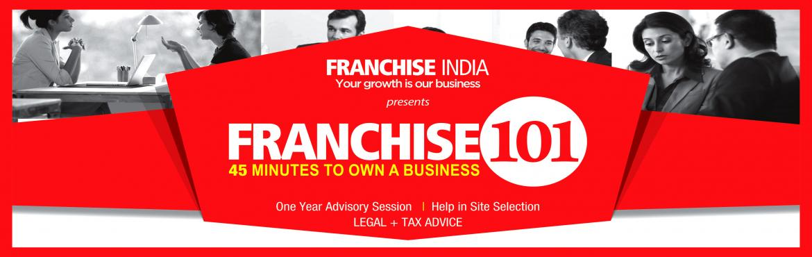 Book Online Tickets for  Franchise 101 @Bangalore , Bengaluru. Franchise 101 is an exclusive session, wherein our team of professional advisors suggests you the optimum business opportunity, as per your requirements, location, objective and investment scale.   Our Focus: - Understanding how Franchising Busi