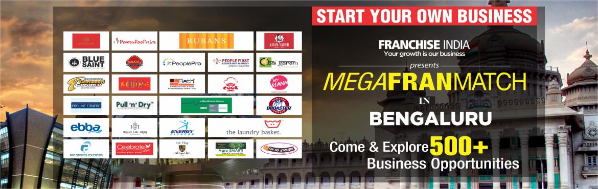 Book Online Tickets for Mega FranMatch Bangalore, Bengaluru. One of its kind concepts from Franchise India, MegaFranMatch (MFM) brings together the prospective franchisees and the franchisor on a single platform, based on their business requirements, location, investments, and most importantly, share the same