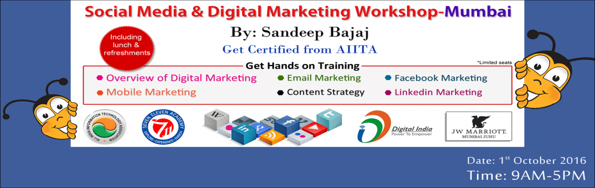 JW Marriot, Juhu - Social Media and Digital Marketing Workshop by Sandeep Bajaj