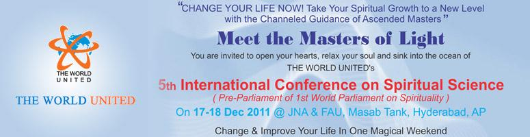 Book Online Tickets for 5th International Conference on Spiritua, Hyderabad. \\\