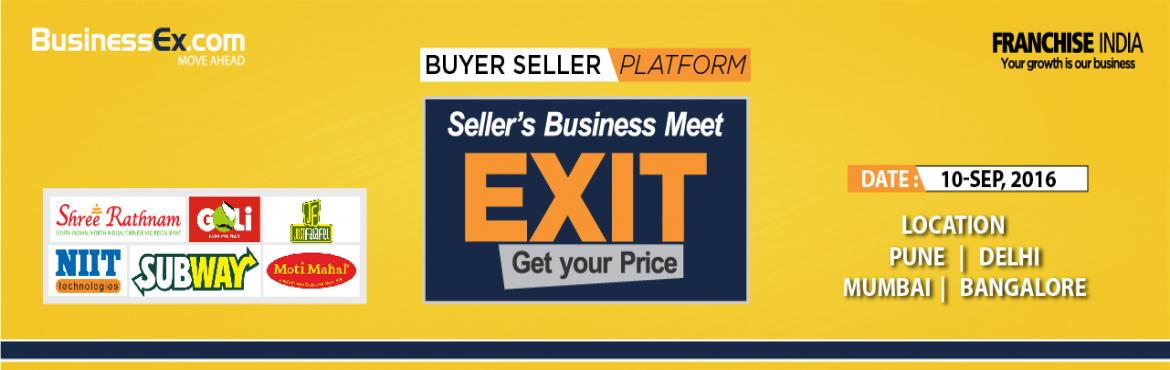 Book Online Tickets for Buy or Sell your Business @ EXIT , NewDelhi. Exit events are comprehensive sessions, deemed essential for organisations as well as individuals, who seek to evaluate the true worth of their business.   We strongly believe that it\'s not enough to build an enterprise worth a fortune; there n