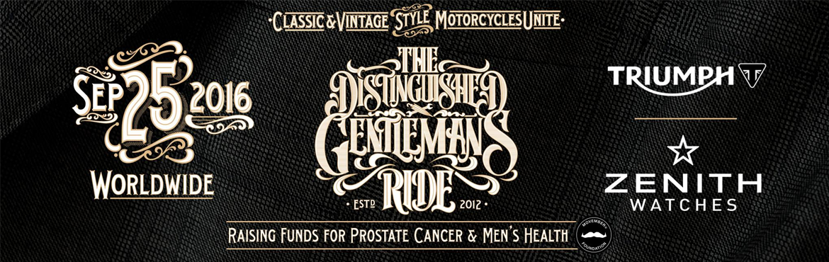 Book Online Tickets for The Distinguished Gentlemens Ride  DGR B, Bengaluru. On Sunday September 25th, more than 50,000 dapper riders in over 500 cities across 90 countries will unite for the world's largest motorcycling charity event upon their classic & vintage styled motorcycles, will don their cravats, tweak the