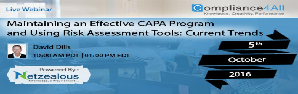 Online Training on Maintaining an Effective CAPA Program by Compliance4all