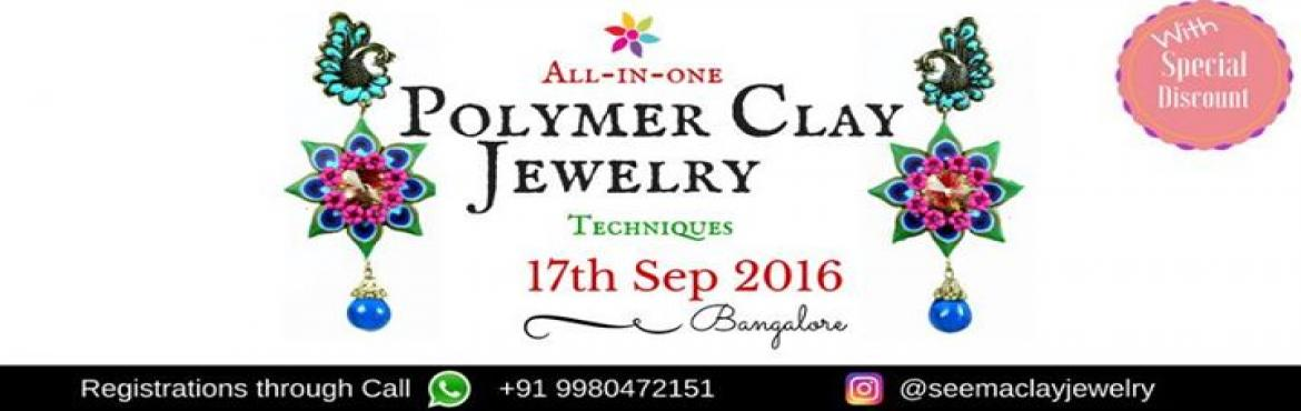 Book Online Tickets for Polymer Clay Jewelry Class, Bengaluru. POLYMER CLAY JEWELRY CLASS   Polymer Clay Jewelry Designing Course:------------------------------------------------------* We are internationally certified polymer clay artist.* Learn the different techniques of polymer clay All-In-One go* All m