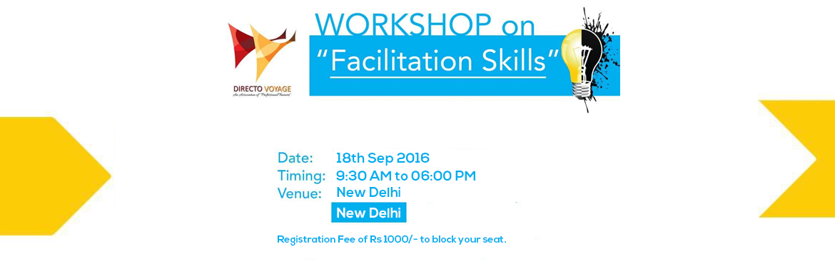 Workshop On Facilitation Skills 18th Sep 2016