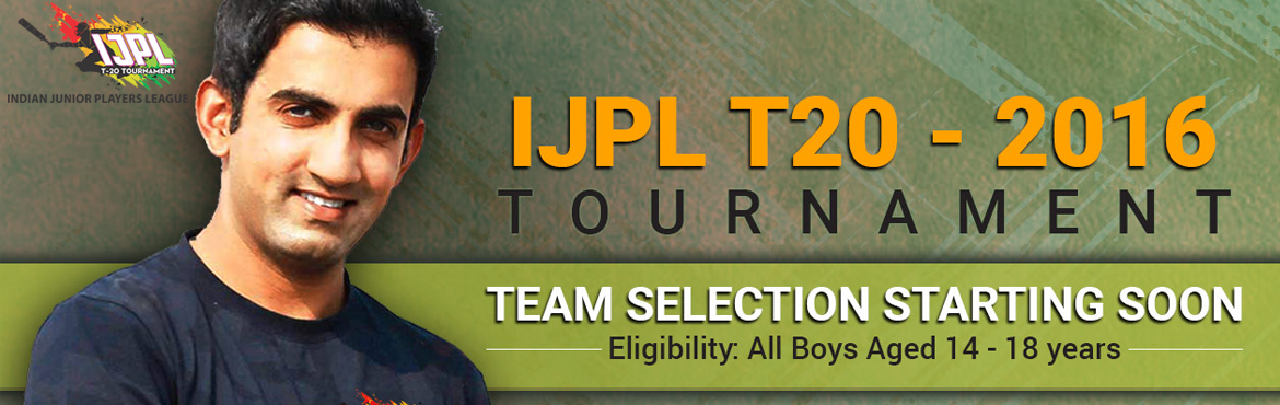 Book Online Tickets for IJPL T20 - Indian Junior Players League , Noida. \