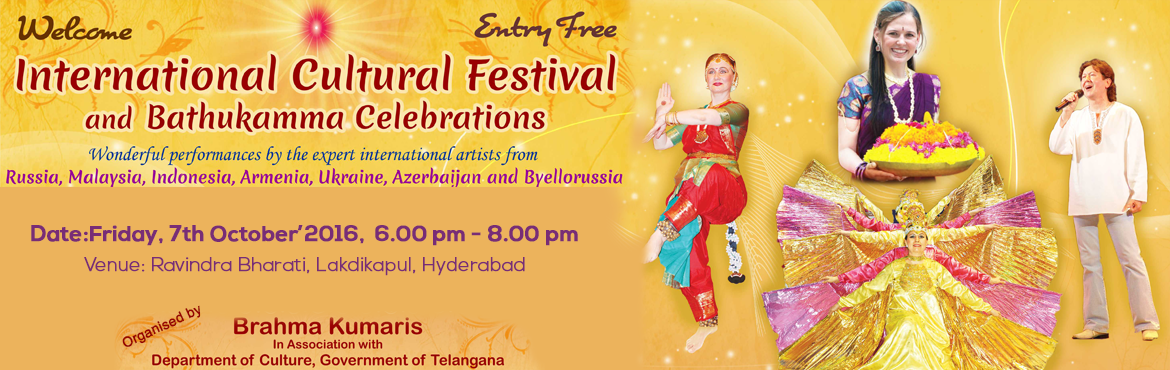 Book Online Tickets for Carnival of living flowers, Hyderabad. Mother nature with her five companions in dancing eternally and creating festival every day. But we humans with our negative attitude have left this mother barren and five elements disturbed. During this bathukamma let\'s rewrite the of our nation, o