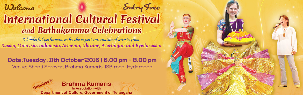Book Online Tickets for DASARA CELEBRATIONS, Hyderabad. Celebrate Grand festival evening with a difference.. Dasara symbolises the victory of righteiusness over the un-righteousness and the victory of eternal light over the darkness of ignorance.....  let\'s celebrate the auspicious festival with great sp