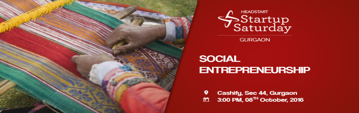 Book Online Tickets for Social Entrepreneurship, Gurugram.  With the changes in social and political conditions, social entrepreneurship is now beginning to take shape in India very firmly. Individuals with innovative solutions to society\'s most pressing social problems have stepped forward to make a CHANGE
