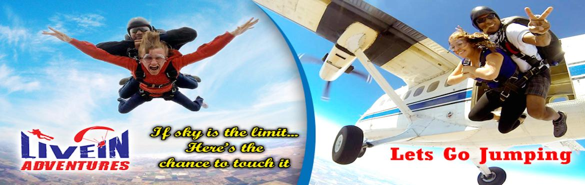Book Online Tickets for Tandem Skydiving, Aligarh.      TANDEM SKYDIVING              NO PRIOR SKYDIVING EXPERIENCE REQUIRED      Make your first tandem jump at Aligarh Dhanipur Air Strip with Livein Adventures (Partner with IPC)   Livein Adventures and IPC offers tandem